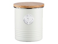 LivingStyles Typhoon Living Tea Canister, 1 Litre, Cream