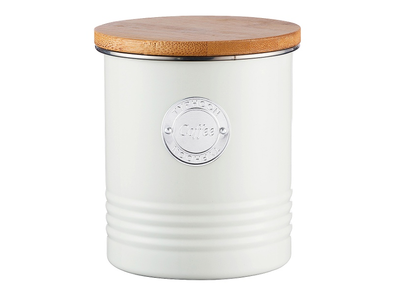 Typhoon Living Coffee Canister, 1 Litre, Cream