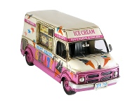 LivingStyles Boutica Handmade Tin Ice Cream Truck Model