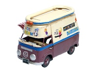 LivingStyles Boutica Handmade Tin Volkswagen 1966 Ice Cream Bus Model