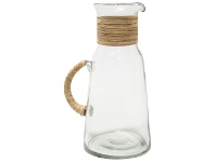 LivingStyles Alejo Glass Jug with Woven Handle