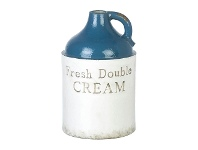 LivingStyles Fresh Double Cream Earthenware Vase