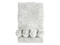 LivingStyles Poccon Knitted Chenille Throw, 170x130cm, Cream