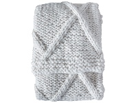 LivingStyles Partura Cable Knit Throw, 130x170cm, Cream