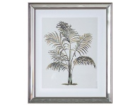 "LivingStyles ""Tropical Palm"" Framed Wall Art Print, Type I, 50cm"