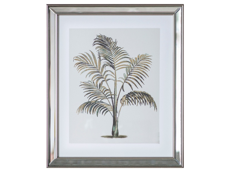 """Tropical Palm"" Framed Wall Art Print, Type I, 50cm"