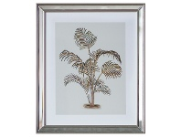 "LivingStyles ""Tropical Palm"" Framed Wall Art Print, Type II, 50cm"