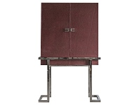 LivingStyles Frei Leather 2 Door Cocktail Cabinet