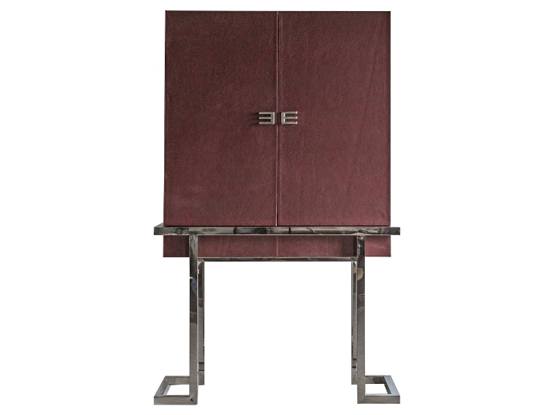 Frei Leather 2 Door Cocktail Cabinet