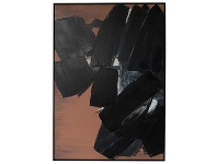 "LivingStyles ""Black Wonder"" Framed Hand Painted Abstract Canvas Wall Art, 138cm"
