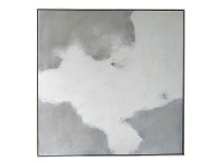 "LivingStyles ""White Haven"" Framed Hand Painted Abstract Canvas Wall Art, No.1, 118cm"