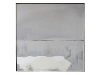 "LivingStyles ""White Haven"" Framed Hand Painted Abstract Canvas Wall Art, No.2, 118cm"