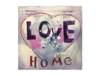 LivingStyles Maison Stretched Canvas Wall Paint, Love, 60cm