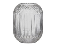 LivingStyles Valentina Glass Vase, Clear