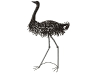 LivingStyles Watarrka Metal Emu Sculpture, Large