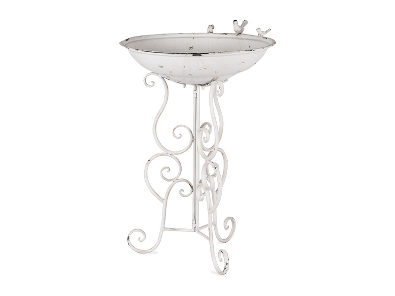 Livorno Metal Bird Bath