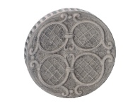 LivingStyles Rochella Fluted Round Ceramic Wall Art