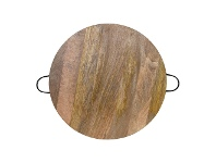 LivingStyles Bailey Round Timber Serving Board, 70cm