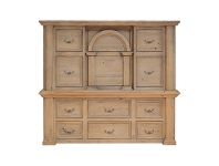 LivingStyles Valencia Mountain Ash Timber 12 Drawer Chest