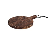 LivingStyles Ethnique Acacia Timber Paddle Serving Board, Round