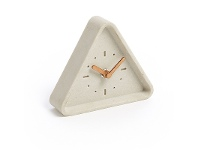 LivingStyles Sherri Triangular Table Clock, Cream