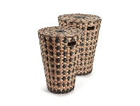 Colville 2 Piece Hand Braided Water Hyacinth Laundry Hamper Set