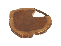 LivingStyles Barleno Acacia Timber Serving Board with Leather Strap