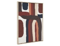 Lochore Framed Abstract Canvas Wall Art, 90cm