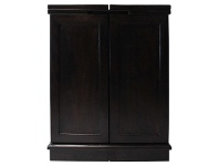 LivingStyles Northam Mango Wood Wine Bar Cabinet, Dark Chocolate