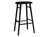 LivingStyles Usher Timber Counter Stool, Black