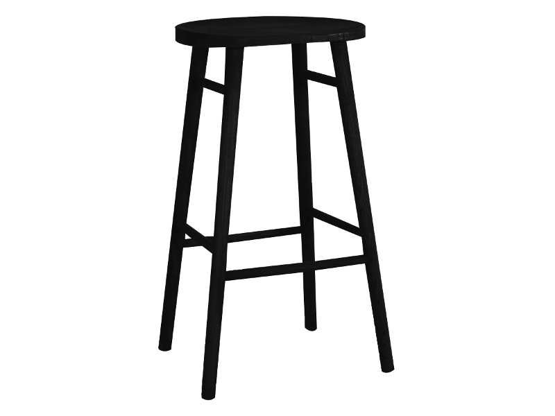 Usher Timber Counter Stool, Black