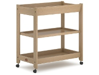 LivingStyles Boori Universal Wooden 3 Tier Change Table, Almond