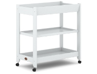 LivingStyles Boori Universal Wooden 3 Tier Change Table, Barley White