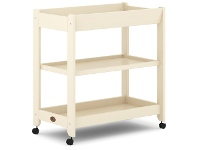 LivingStyles Boori Universal Wooden 3 Tier Change Table, Cream