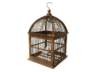 LivingStyles Isabella Wooden Bird Cage, Antique Brown