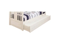 LivingStyles Byron Pine Timber Trundle Bed, Trio, Vanilla