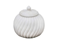 Sutton Marble Canister, Medium