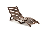 Thompson Balau Timber Foldable Sun Lounge, Brown