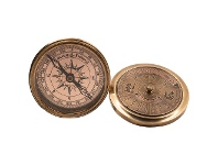 LivingStyles Tralee Solid Brass 40-Year Calander Compass, Brass