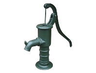 LivingStyles Village Cast Iron Pump Ornament, Green