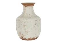 LivingStyles Clyde Ceramic Vase, Large, Cream