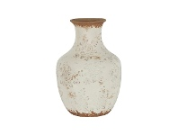 LivingStyles Clyde Ceramic Vase, Small, Cream