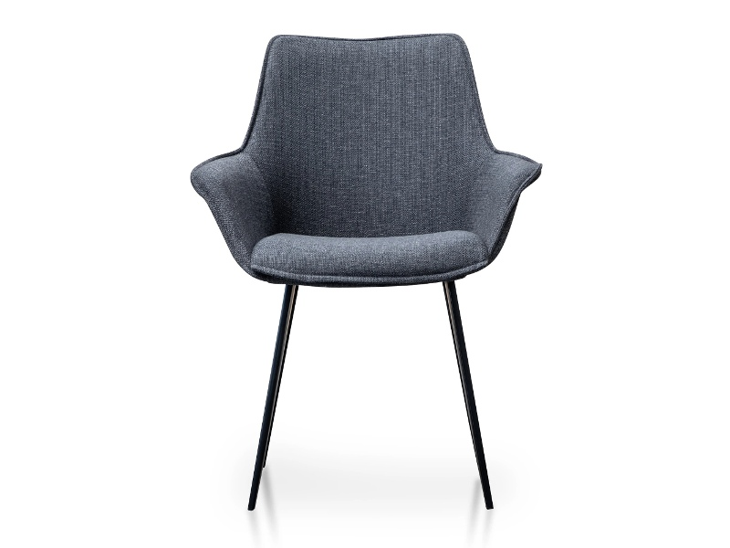 Baldivis Fabric Dining Armchair, Set of 2, Charcoal Grey