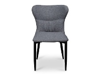 LivingStyles Barnaby Fabric Dining Chair, Pebble Grey