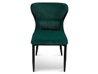 LivingStyles Barnaby Velvet Fabric Dining Chair, Emerald