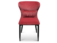 LivingStyles Barnaby Velvet Fabric Dining Chair, Ruby