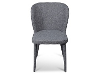 LivingStyles Cassilis Fabric Dining Chair, Dark Grey