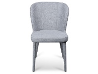 LivingStyles Cassilis Fabric Dining Chair, Pebble Grey