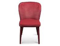 LivingStyles Cassilis Velvet Fabric Dining Chair, Ruby