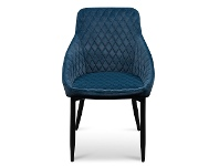 LivingStyles Wayerton Velvet Fabric Dining Chair, Navy
